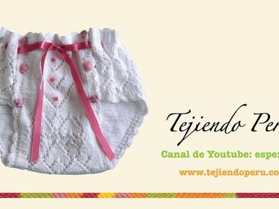 Dos agujas: cómo tejer un calzoncito para niña (Parte 2)