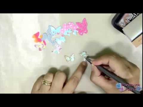 Libro De Pintura Para Navidad-Como Hacer Clips de Mariposas DIY How to Butterfly Clip Scrapbook Craf