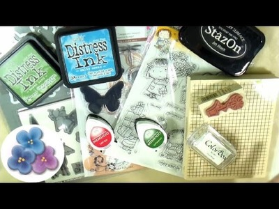 Material para Scrapbook Tipos de Sellos y Tintas *Scrapbook Tutorial* Scrapbook Review Pintura Facil