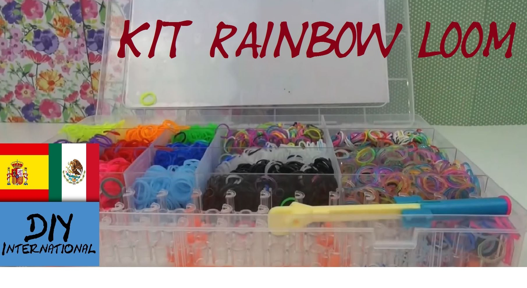 MATERIALES - KIT - SET - RAINBOW LOOM - TUTORIAL EN ESPAÑOL - DIY