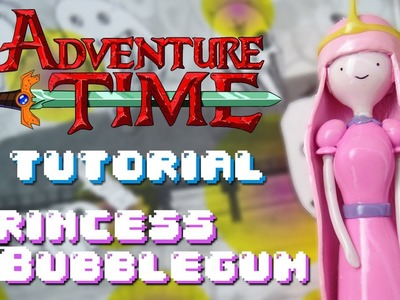 PRINCESS BUBBLEGUM Polymer Clay TUTORIAL. DULCE PRINCESA Porcelana Fria