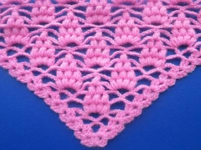 Chal a crochet paso a paso en español