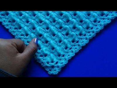 Chal (shawl) tejido  a crochet paso a paso