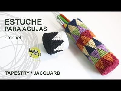 Tutorial Estuche Porta Agujas Tapestry o Jaquard Crochet o Ganchillo