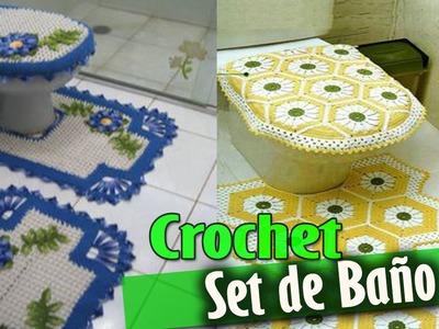 SET DE BAÑO - Tejidos a Crochet ( Diseños e ideas )
