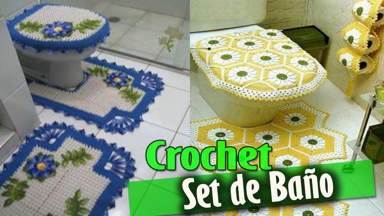 Set de ba o tejidos a crochet dise os e ideas my for Set de bano tejidos