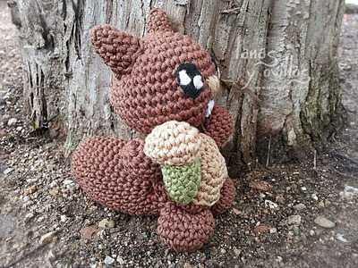 Tutorial Ardilla Amigurumi (2 de 2) Squirrel English Subtitles