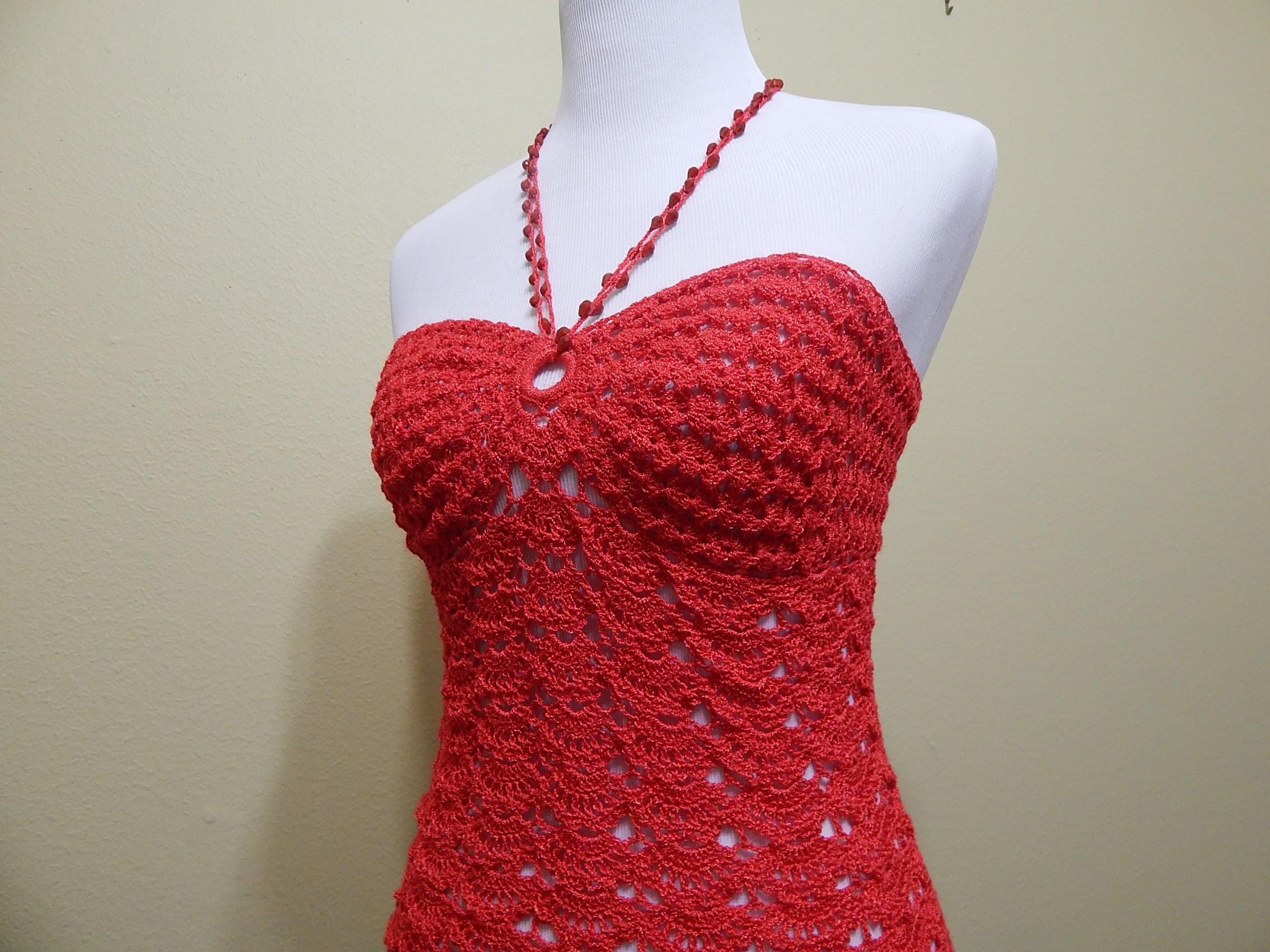 Blusa Coral Crochet parte 3 de 3