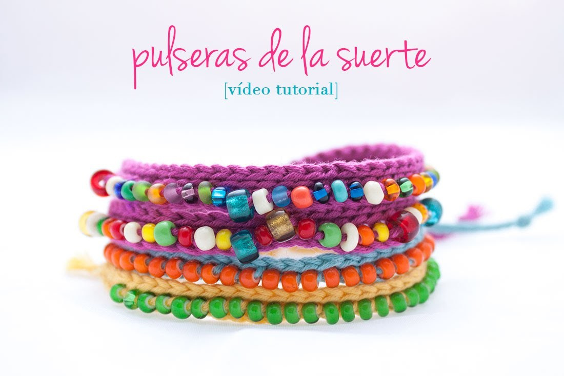 Cómo hacer una pulsera de ganchillo con bolitas | How to make a crochet bracelet