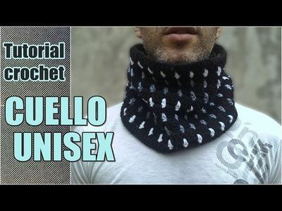 Como tejer cuello bufanda unisex, hombre, mujer a crochet, ganchillo en punto bloques PASO A PASO