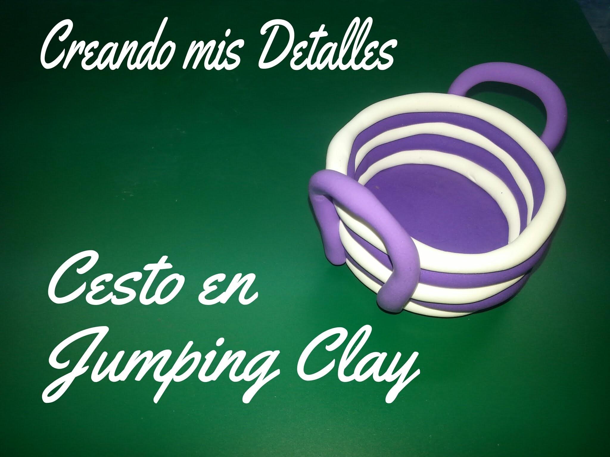 Creando una cesta en Jumping clay - Polymer clay basket