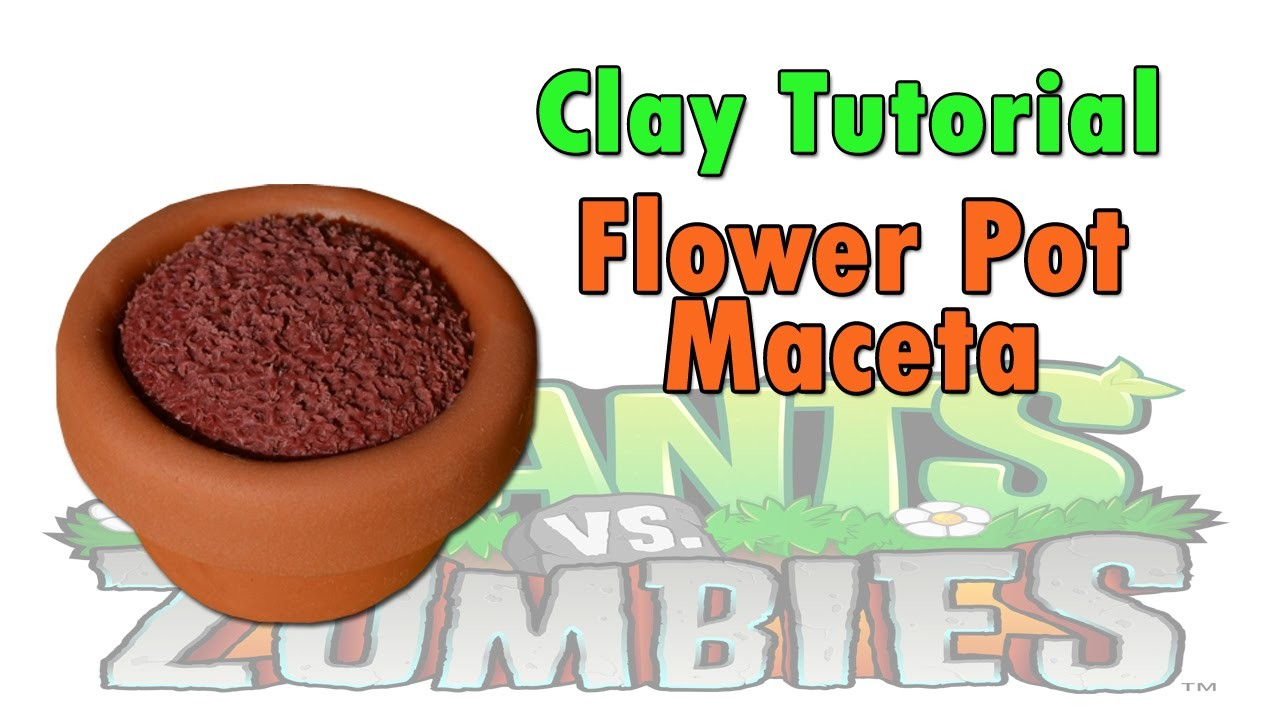 Flower Pot. Maceta Clay Tutorial Polymer clay. Porcelana fria