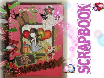 Libreta. Carpeta Scrapbook para una amiga ♥