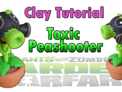 Toxic Peashooter Clay Tutorial Polymer clay. Porcelana fria