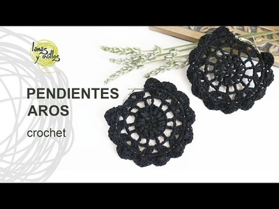 Tutorial Pendientes o Aros a Crochet o Ganchillo