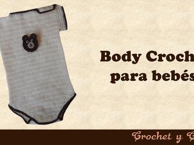 Body para bebés tejido a crochet (ganchillo)