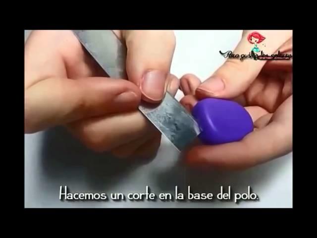 Colgante Polo con arcilla polimérica video-tutorial. Pendant Ice Lolly with polymer clay
