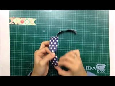 Cómo hacer lazos de papel usando la Envelope Punch Board - TUTORIAL Scrapbook