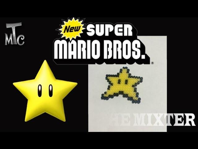 Como Hacer Una Estrella | Llavero Estrella (Super Mario Bros) Con Hama Beads | The Mixter Games