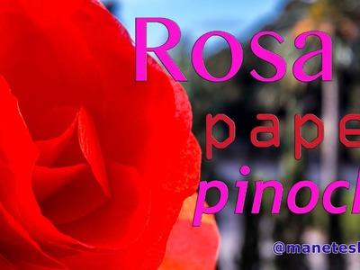 Cómo hacer una rosa de papel pinocho | Tutorial DIY