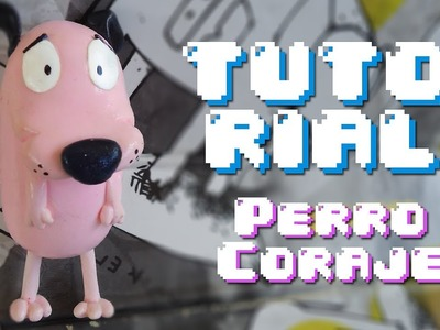 Courage the Cowardly Dog Polymer Clay TUTORIAL. Coraje el Perro Cobarde Porcelana Fria
