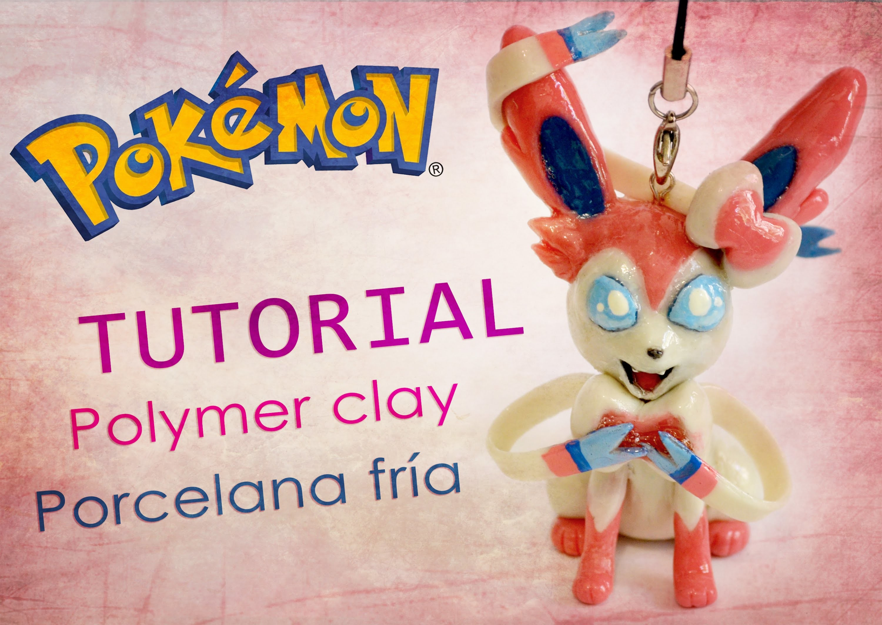 DIY Pokémon - tutorial Sylveon polymer clay - porcelana fría - plasticine