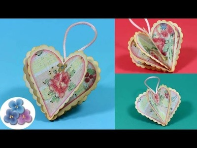 DIY San Valentin Corazon de Papel *Valentines Decorations 2014* Adornos Navideños Pintura Facil