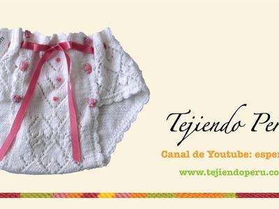 Dos agujas: cómo tejer un calzoncito para niña (Parte 1)