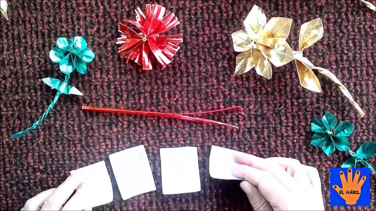 Flor de papel facil. Easy Paper Flower.