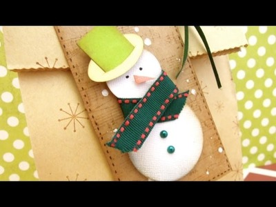 From Start to finish: How to make a Snowman Gift Tag