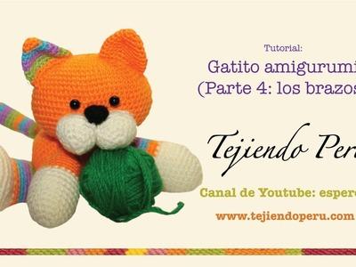 Gatito amigurumi (kitten) Parte 4: tejiendo los brazos
