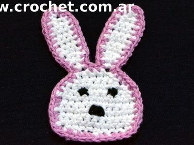 Iman Mini Coneja para heladera en tejido crochet tutorial paso a paso.