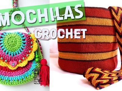 Mochilas y Bolsos Tejidos a Crochet