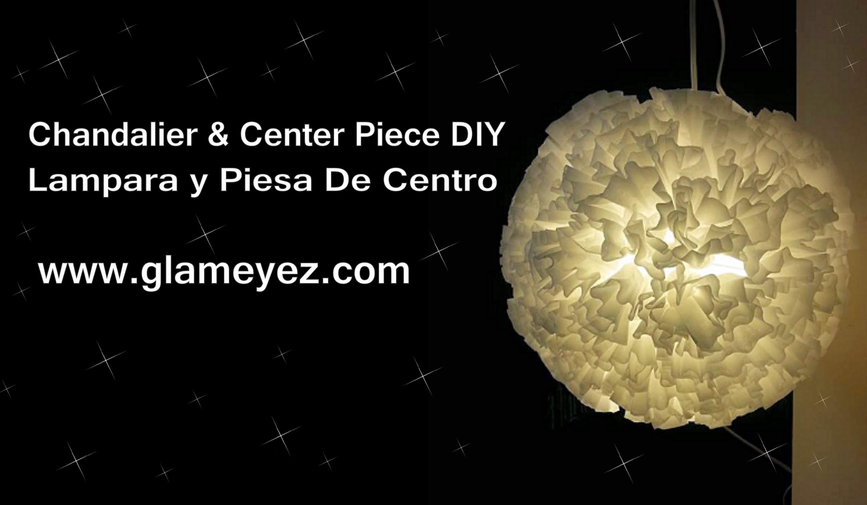 Paper Chandelier and Center Piece. Lampara de Papel y Centro De Mesa