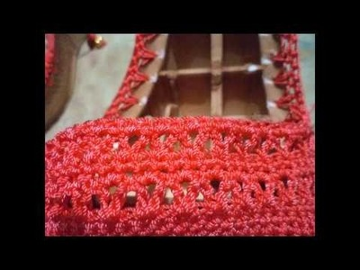 Sandalia tejida a crochet