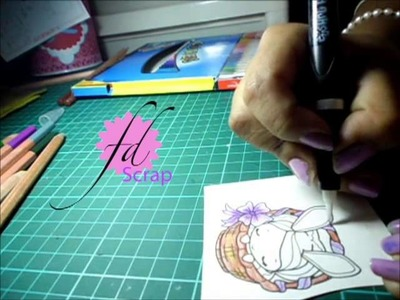 Scrapbook: Coloreando sellos con acuarelas