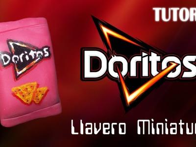 Tutorial Llavero Doritos en Porcelana Fria | Miniatura | Doritos Charm Polymer Clay Tutorial