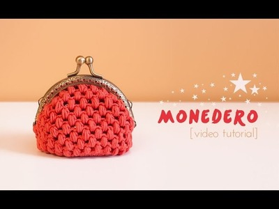 Cómo hacer un monedero de ganchillo con boquilla | How to make a crochet purse
