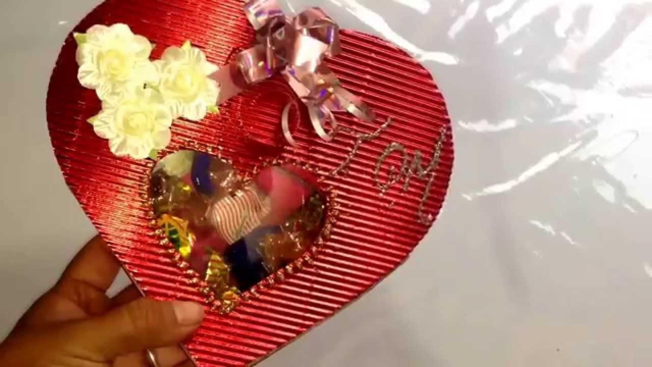 DIY Corazón de papel con Chocolates san Valentín, día Madres Paper heart with chocolate mothers day