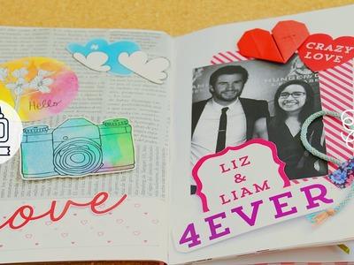 Smash book - Liz y Liam. scrapbook de enamorados