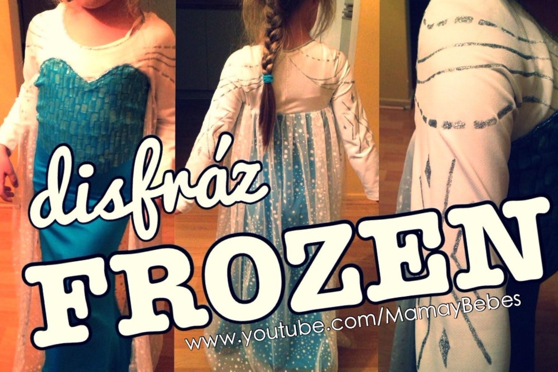 Elsa FROZEN - vestido hecho a mano! Mi proceso - Handmade Elsa dress costume - disfráz