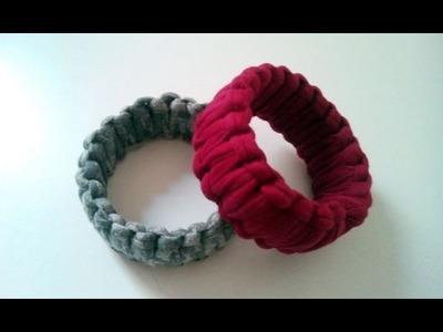 DIY: Renovar un brazalete con macramé y trapillo