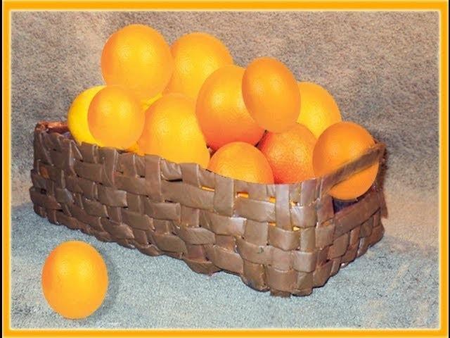 MANUALIDADES  FRUTERO DE PAPEL PERIÓDICO O DIARIO POR GEORGIO - newspaper basket fruit bowl