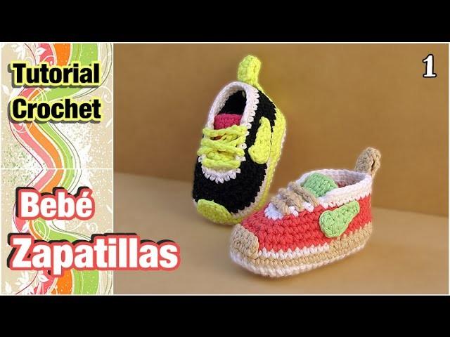 Cómo tejer Zapatillas, patucos, escarpines para bebé a crochet (1 de 2)