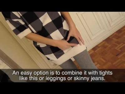 Como combinar un maxi jersey. How to combine a maxi sweater