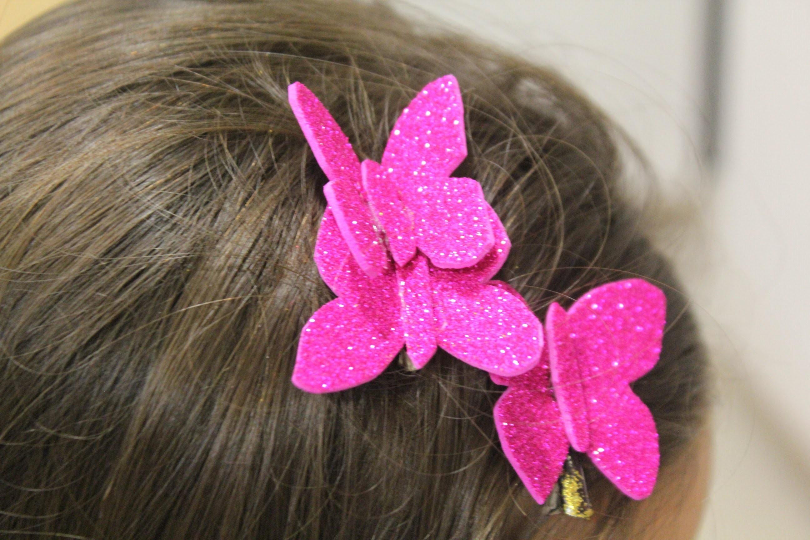 Cómo hacer mariposas para el pelo