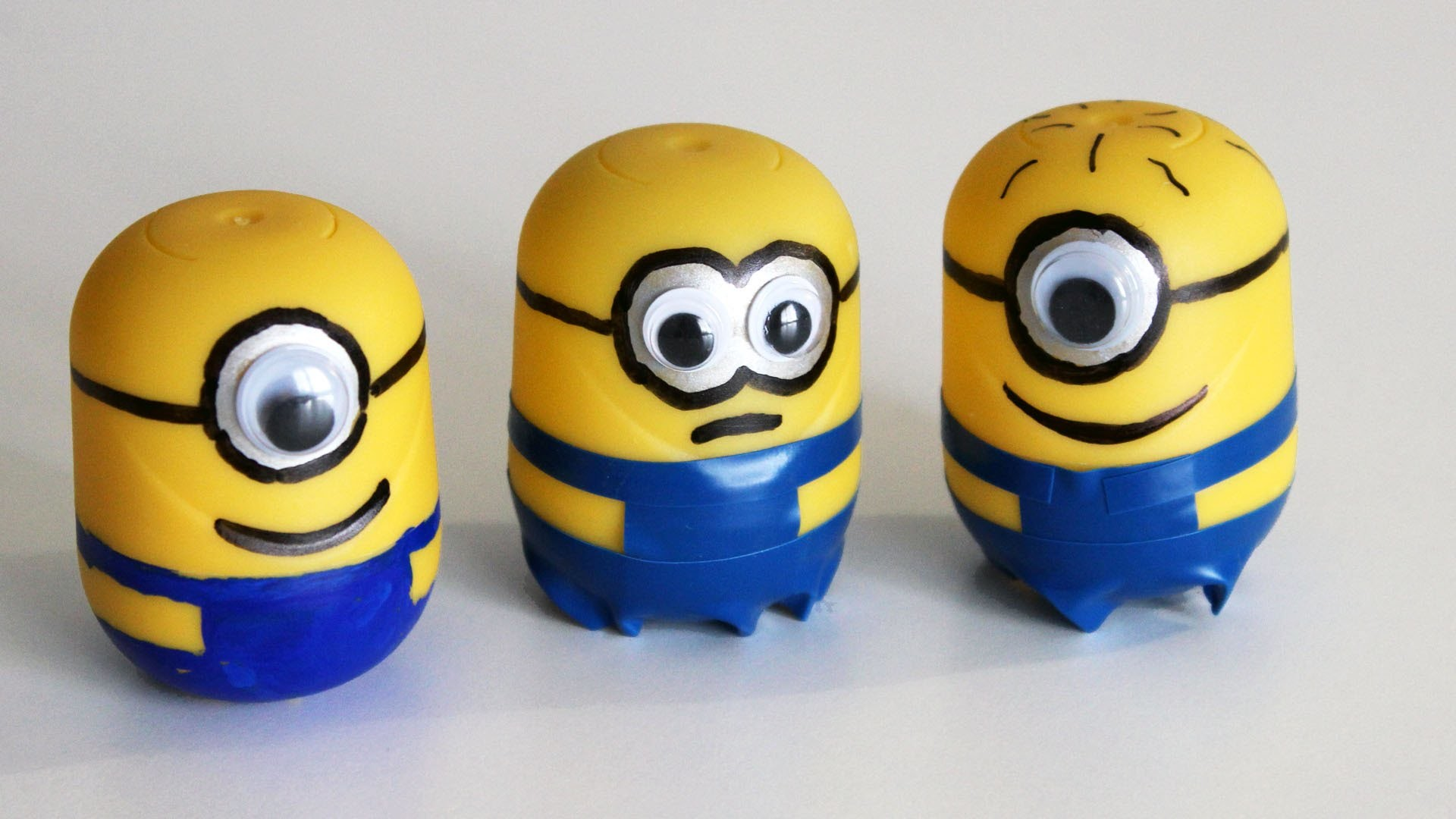 Cómo hacer minions con Kinder Sorpresa - How to make Minions with Kinder Surprise Eggs
