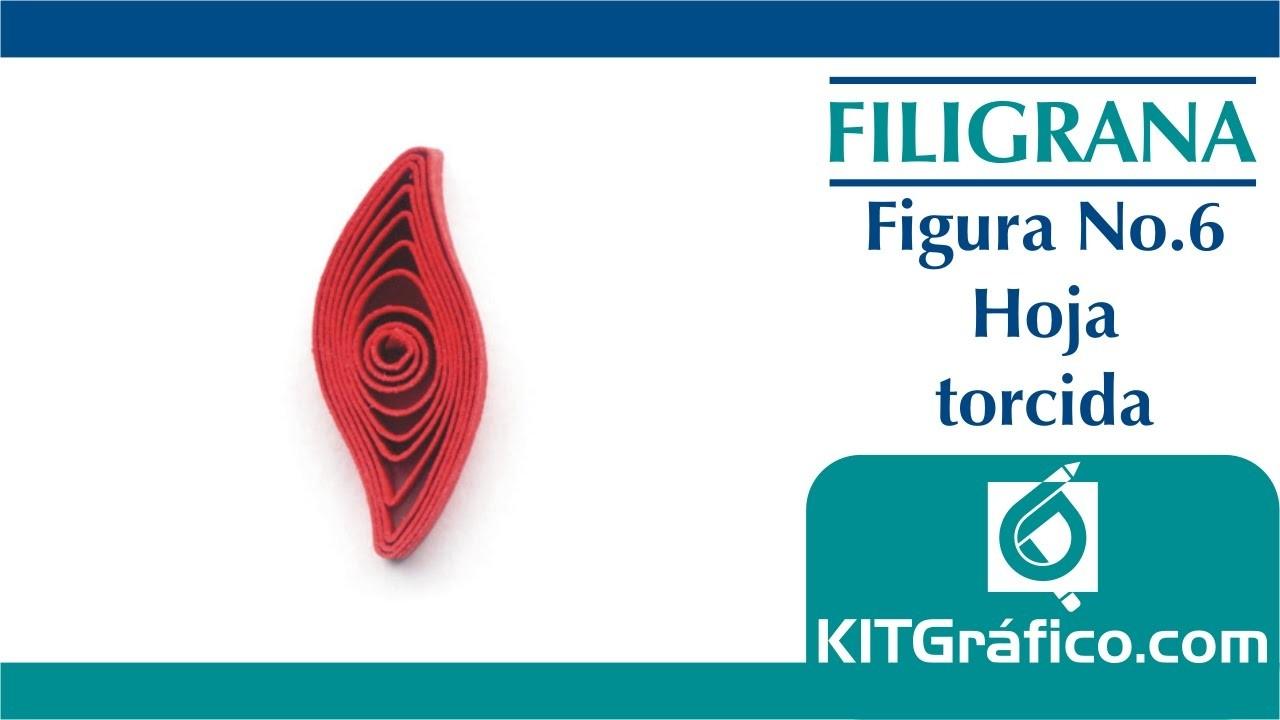 Filigrana (Quilling) figura básica No.6 - Hoja torcida - kitgrafico.com