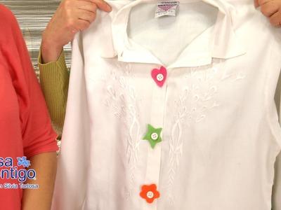 Flores de Fieltro para Blusas, Vestidos y Cabello