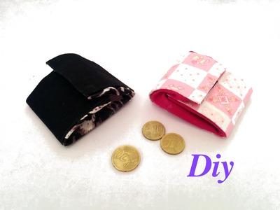Hacer monederos reciclando telas. Tissus recyclés diy.